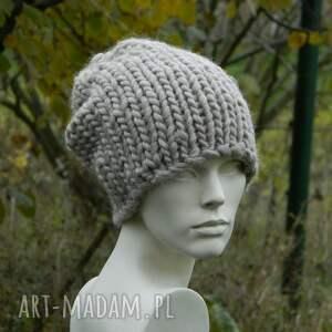 czapki zimowa syberianka beż 100% wool