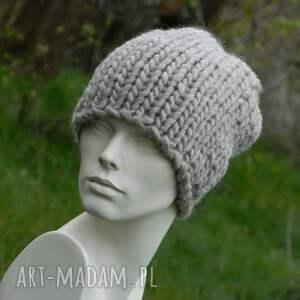 zimowa czapki syberianka beż 100% wool
