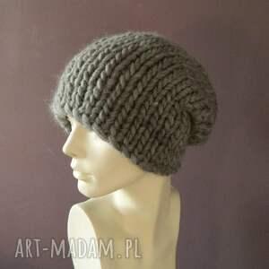 handmade czapki grubaśna syberianka 100% wool ciepła