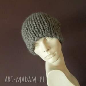czarne czapki grubaśna syberianka 100% wool