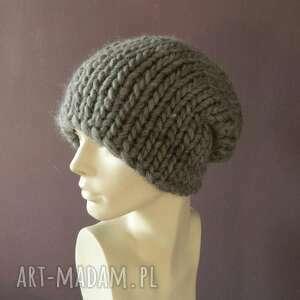 modne czapki melanżowa syberianka * 100% wool czapa