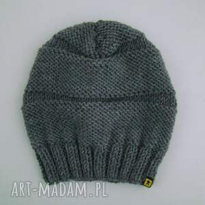 czapki czapa szara