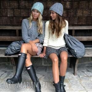 czapki minimalizm szara czapka handmade