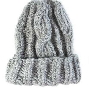 czapki snowboard szara ręcznie robiona czapka