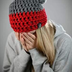 czerwone czapki czapka zimowa triquence