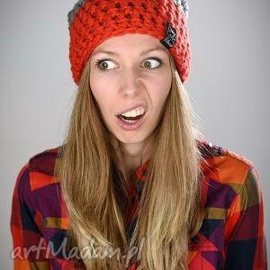 pomarańczowe czapki czapka na zimę triquence