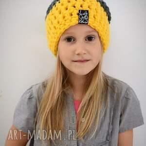 czapki czapka dla dziewczynki ✔ informacje ogólne: trójkolorowa