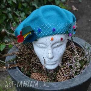 fascynatory Turkusowy beret