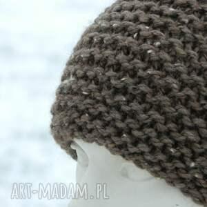 unikalne czapki tweedowa tweed brązowy - na prawo * zimowa