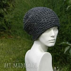 ciepła czapki tweed stalowy - na prawo * czapka