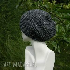 urokliwe czapki tweedowa tweed stalowy - na prawo zimowa