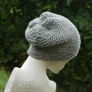 gustowne czapki tweedowa tweed szary - na prawo * zimowa