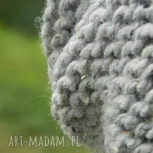 niesztampowe czapki tweedowa tweed szary - na prawo * zimowa