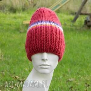 ręcznie wykonane czapki kolorowa wełniana czapa 100% wool