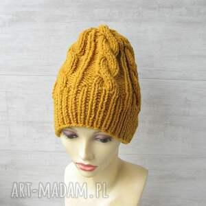 unisex czapki wełniana czapka musztardowa