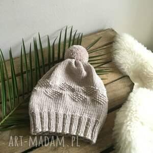 gustowne czapki czapka wełniana 100% wełna merynos
