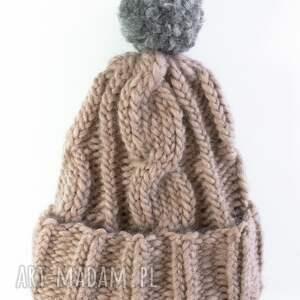 handmade czapki zima wełniana czapka w warkocze