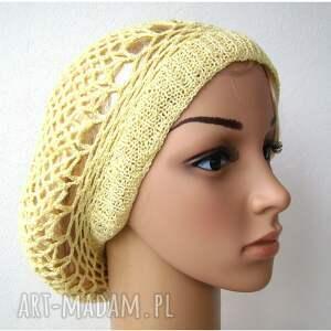 BARSKA czapki berecik wiosenno letni ażurowy beret