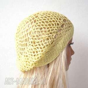 czapki berecik wiosenno letni ażurowy beret