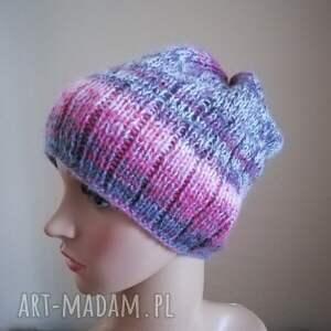 niepowtarzalne czapki czapka włóczkowa impresja 1