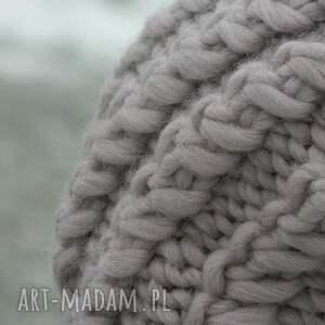 czapki grubaśna 100% wool grubaśny ścieg piękny
