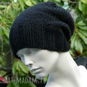 czarne czapki gruba 100% wool * unisex klasyk:)