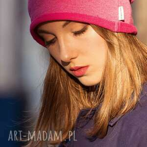 czapki: Wygodna Ciepła Czapka Różowy Melanż