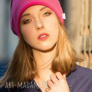 ciepła czapki różowe wygodna czapka różowy