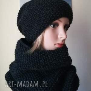atrakcyjne czapki rękodzieło wyjątkowa czerń czapka