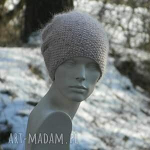 gustowne czapki dziergana wyjątkowo ładna * 100% merino