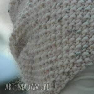 tweed czapki różowe wyjątkowo ładna * 100% merino