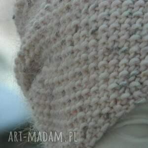 kolorowe czapki dziergana wyjątkowo ładna * 100% merino