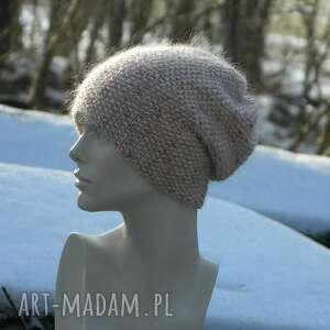 handmade czapki tweed wyjątkowo ładna * 100% merino