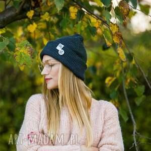 czapki czapka damska wywijana dwustronna logo kolorowe