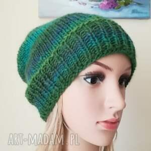 zielone czapki rękodzieło zielenie czapka