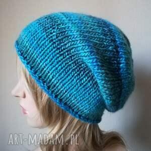 prezent czapki zima w turkusach czapka