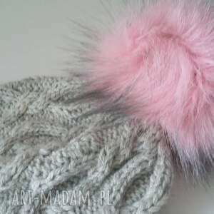 zima czapki zimowa czapka z dużym pomponem