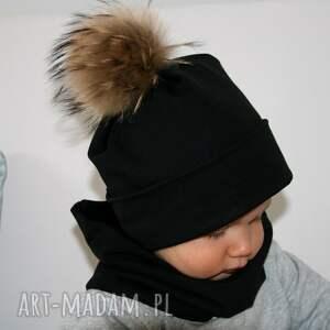 czarne czapki czapka zimowa dziecięca z dzianiny
