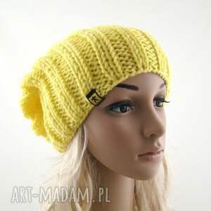 frapujące czapki czapka żółta damska