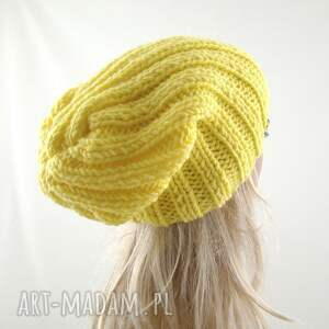 frapujące czapki zimowa żółta czapka damska