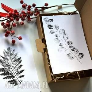 liść dekoracje 6 x print roślinny