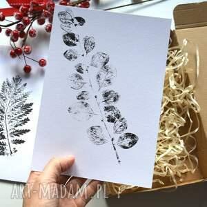 dekoracje liść 6 x print roślinny