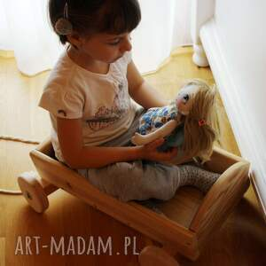 beżowe dekoracje anioł - lalka kolekcjonerska