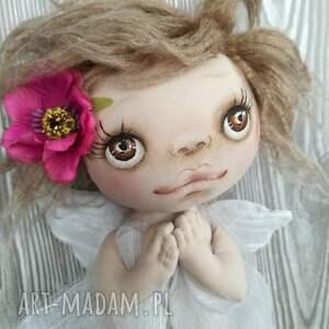 atrakcyjne dekoracje anioł aniołek - figurka tekstylna - ręcznie szyta
