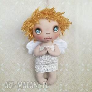 złote dekoracje dziecko aniołek dekoracja ścienna - figurka