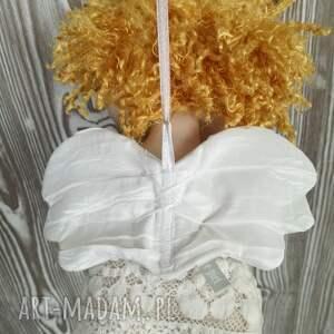 anioł dekoracje białe aniołek dekoracja ścienna - figurka