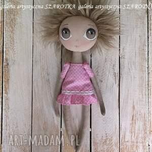 ręczne wykonanie aniołek lalka - dekoracja tekstylna