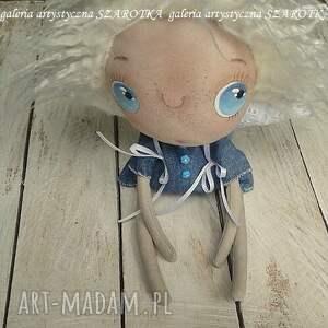 dekoracje: ANIOŁEK lalka - dekoracja tekstylna, seria cute angel, OOAK