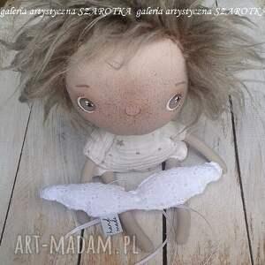 handmade dekoracje aniołek lalka - dekoracja tekstylna