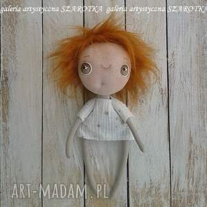 lalka aniołek dekoracje pomarańczowe - dekoracja tekstylna